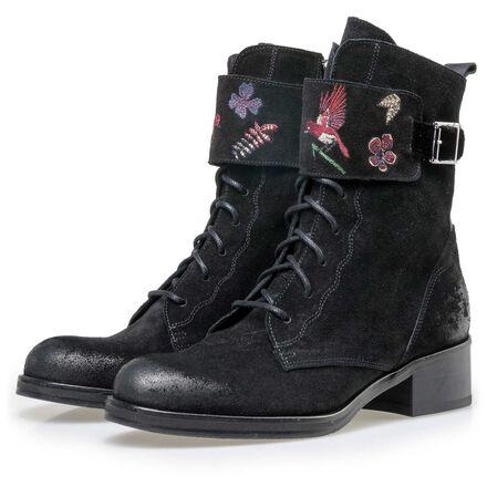 Floris van Bommel women's suede leather lace boot