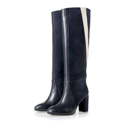 Floris van Bommel women's suede leather patchwork boots