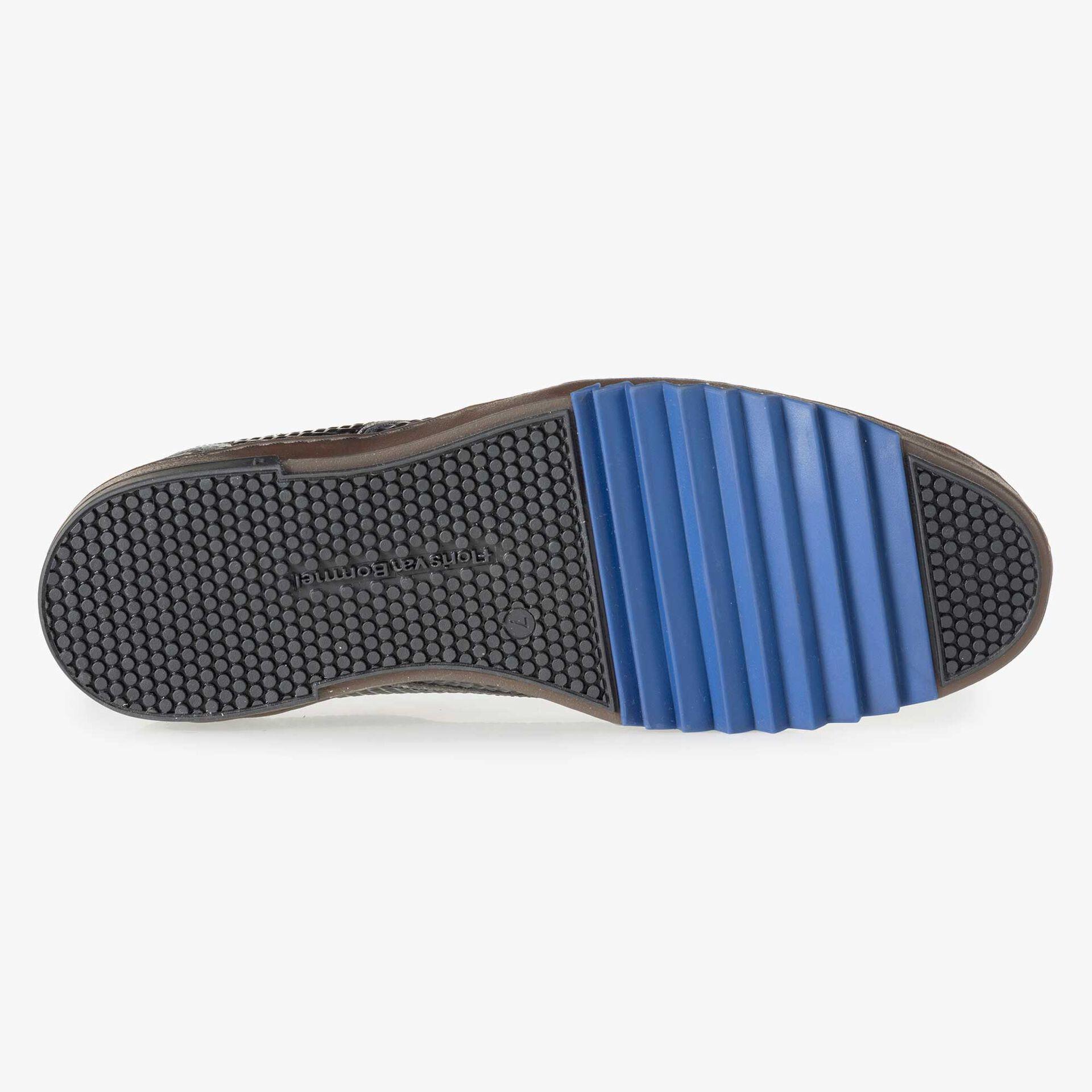 Floris van Bommel grijze print heren sneaker