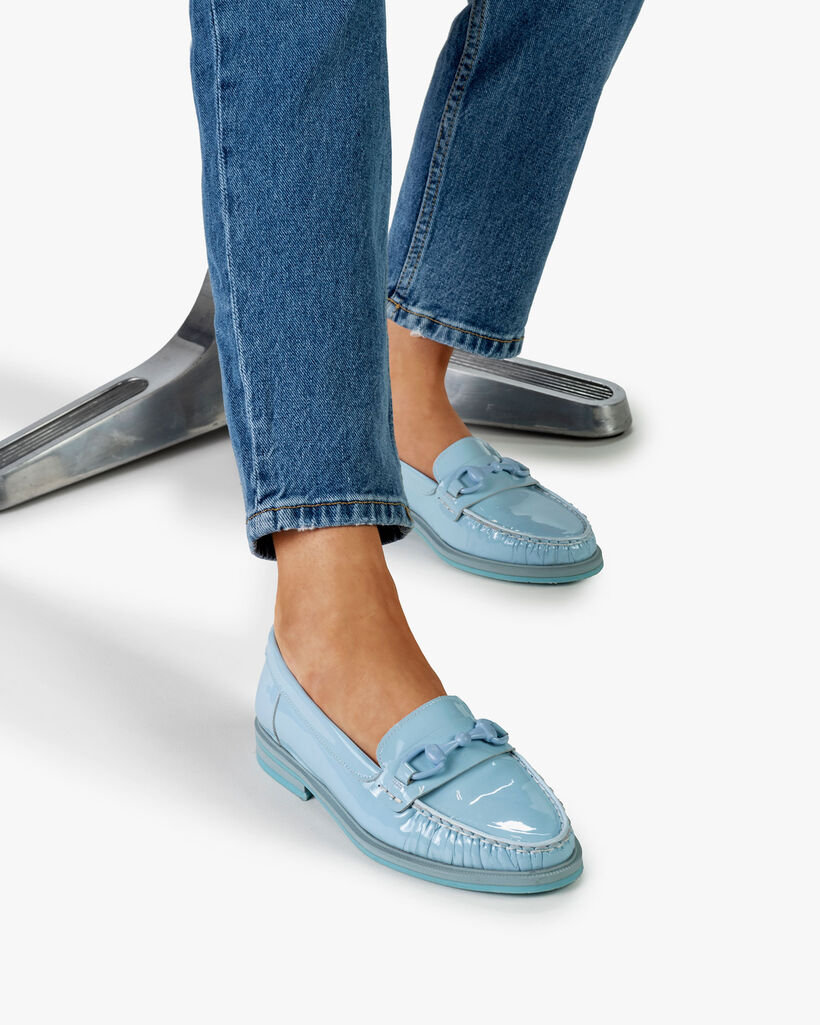 Loafer lakleer lichtblauw