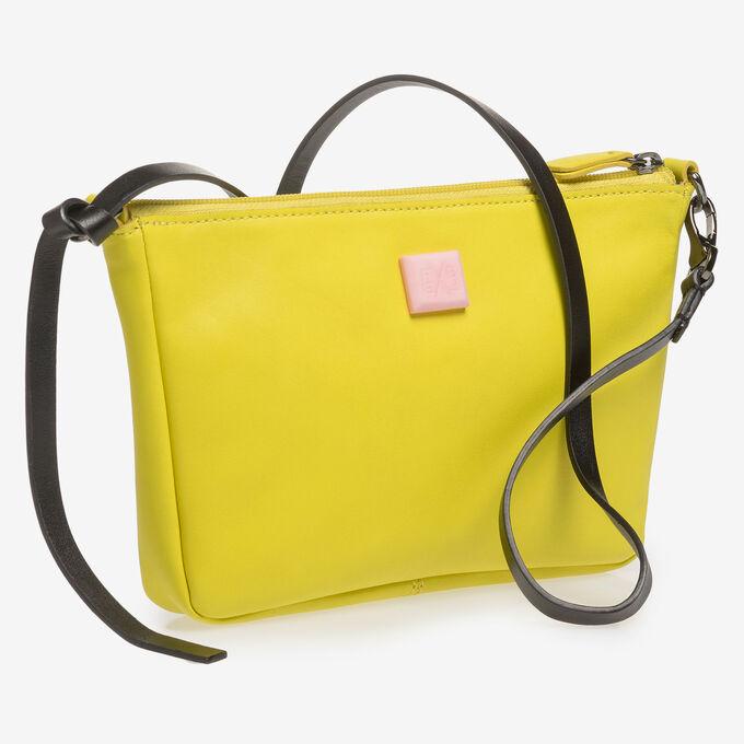 Yellow nappa leather bag