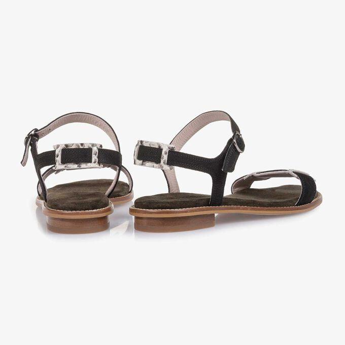 Nubuckleren sandaal