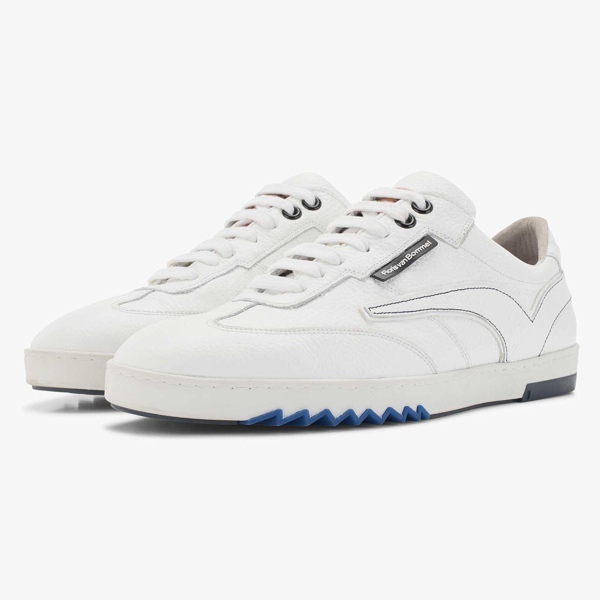 Witte sneaker van kalfsleer