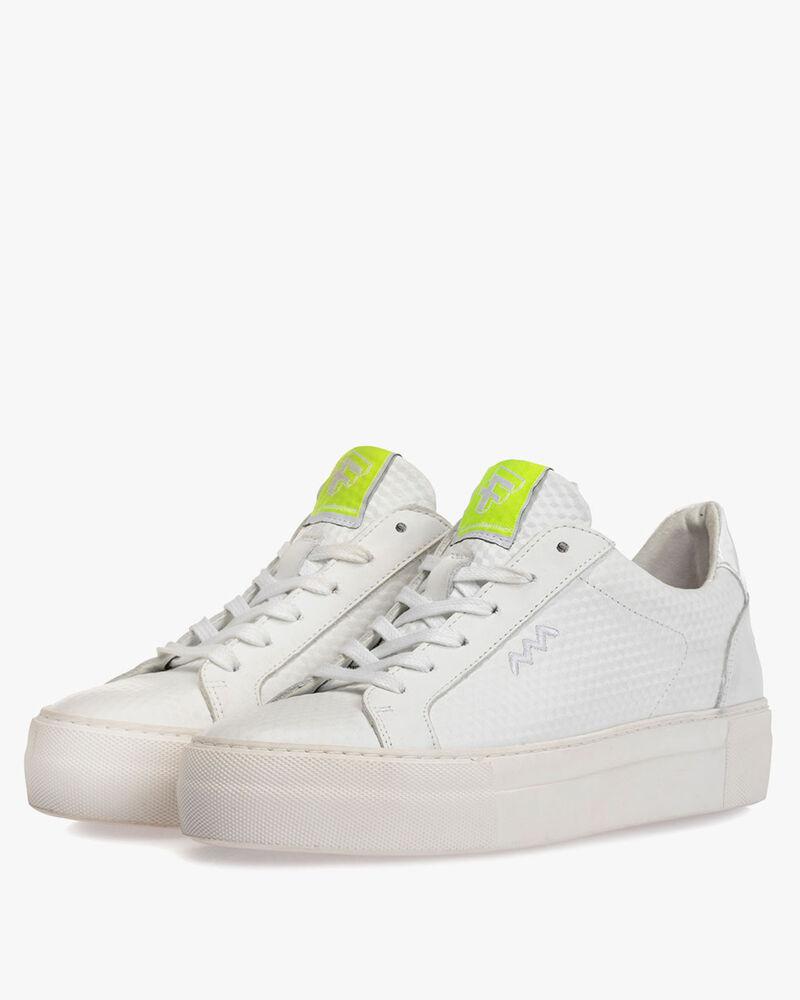 Sneaker geprint leer wit