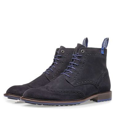 Brogue lace boot