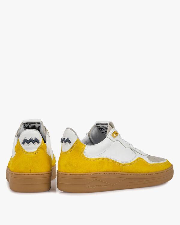 Sneaker suède geel