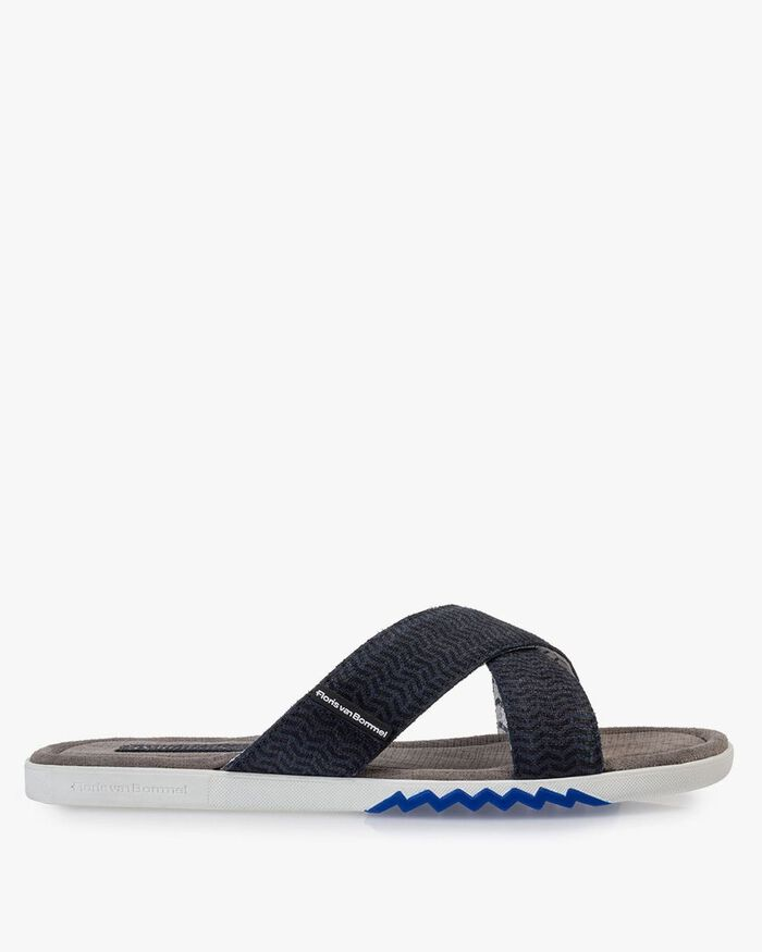 Slipper nubuck leather blue