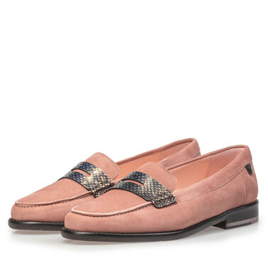Suede leather loafer
