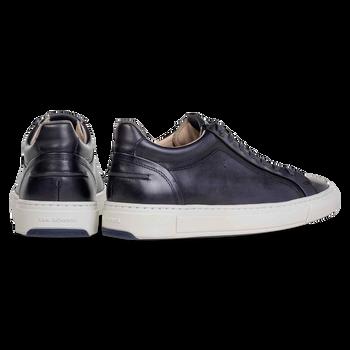 Sneaker kalfsleer blauw