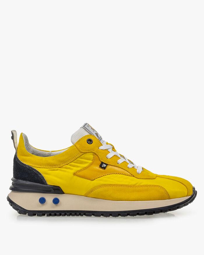 Sneaker textiel geel