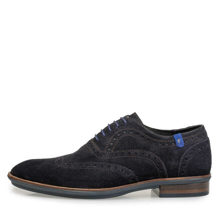 Suède brogue veterschoen