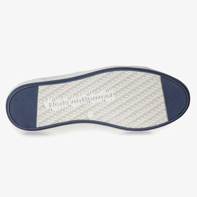Gewassen suède sneaker taupe
