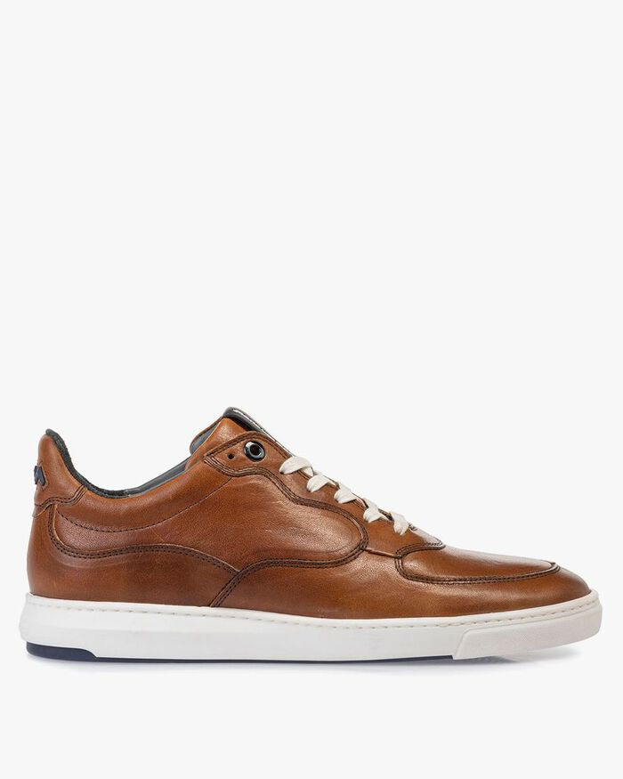 Sneaker cognac-coloured calf leather