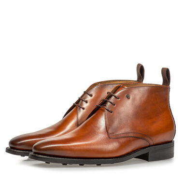 Van Bommel leather lace boot