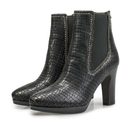 Chelsea boot with croco print