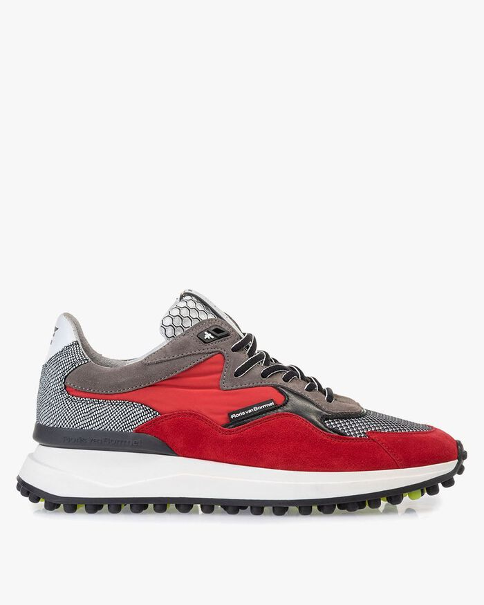 Noppi sneaker suede leather red