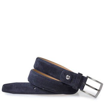Dark blue suede belt