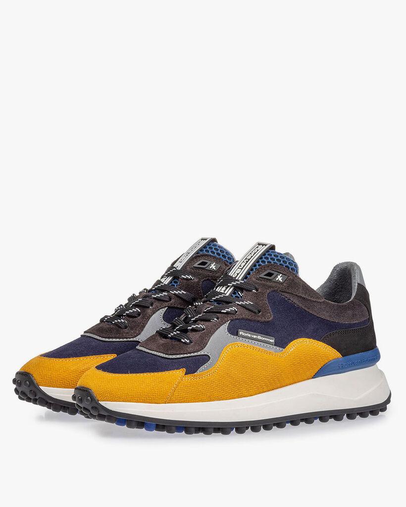 Noppi sneaker blauw/geel