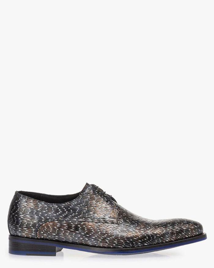 Lace shoe metallic bronze