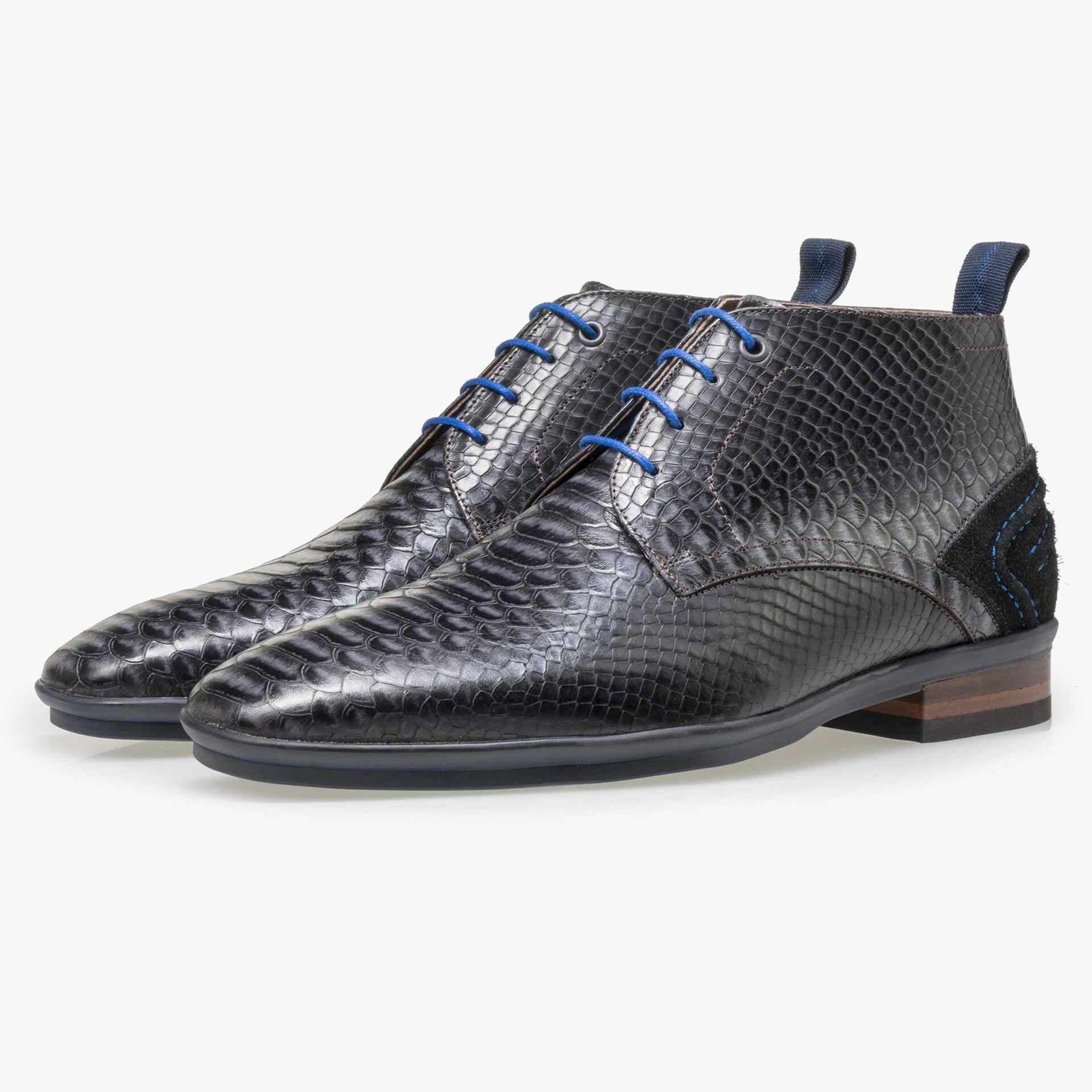Floris van Bommel black lace boot