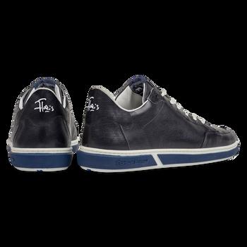 Sneaker kalfsleer donkerblauw