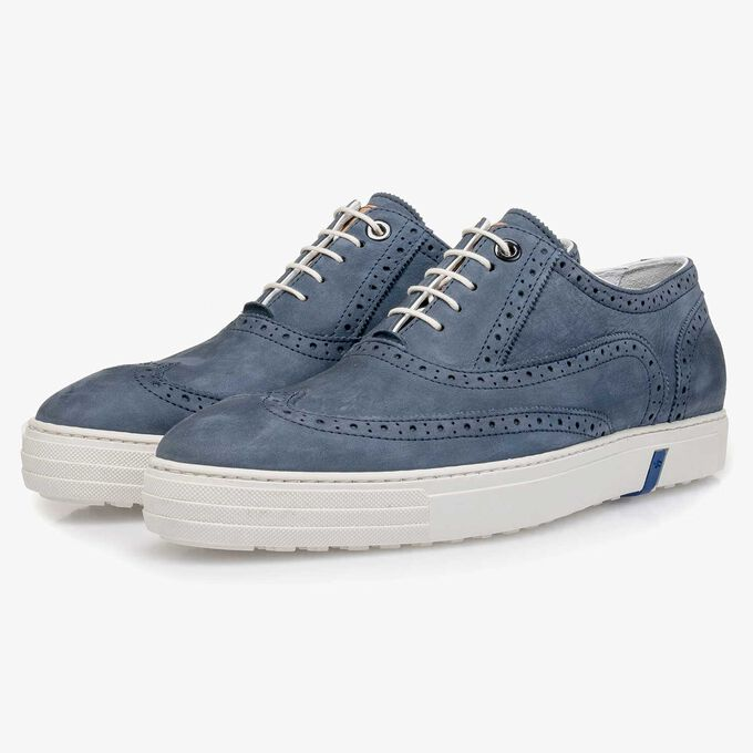 Nubuck leather brogue shoe