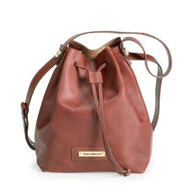 Leren bucket bag