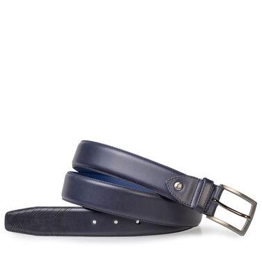 Calf leather belt