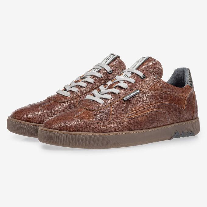 Sneaker with print cognac