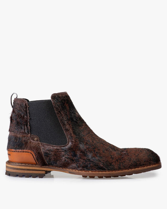 Chelsea boot pony style brown