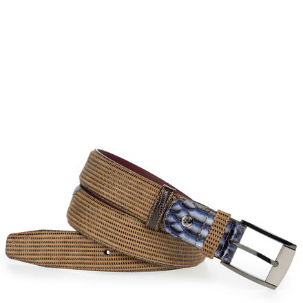 Leather men's belt