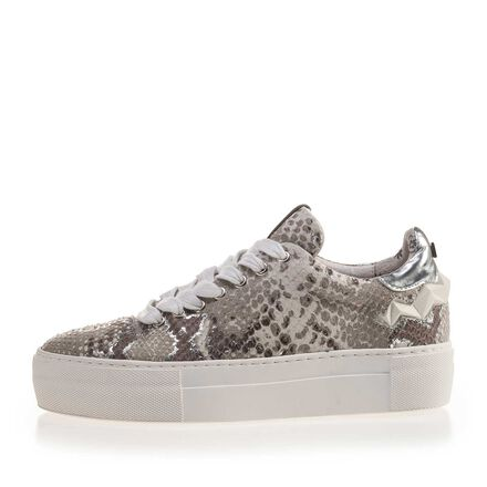 Patterned leather sneaker
