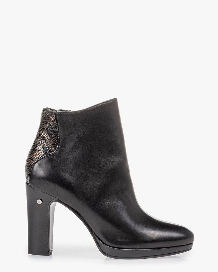 Ankle boot black nappa leather