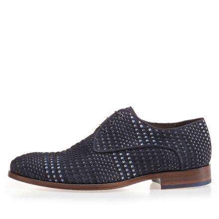 Braided suede leather lace shoe