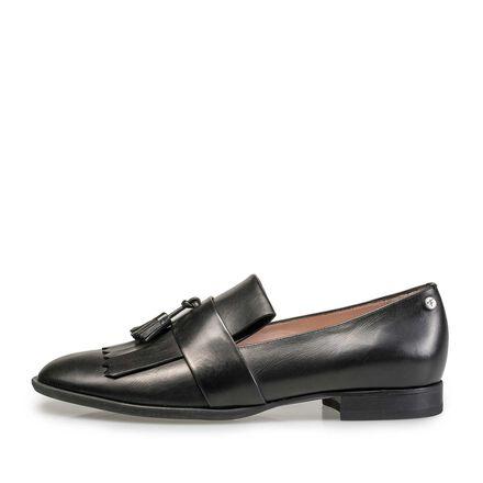 Leather tassel loafer
