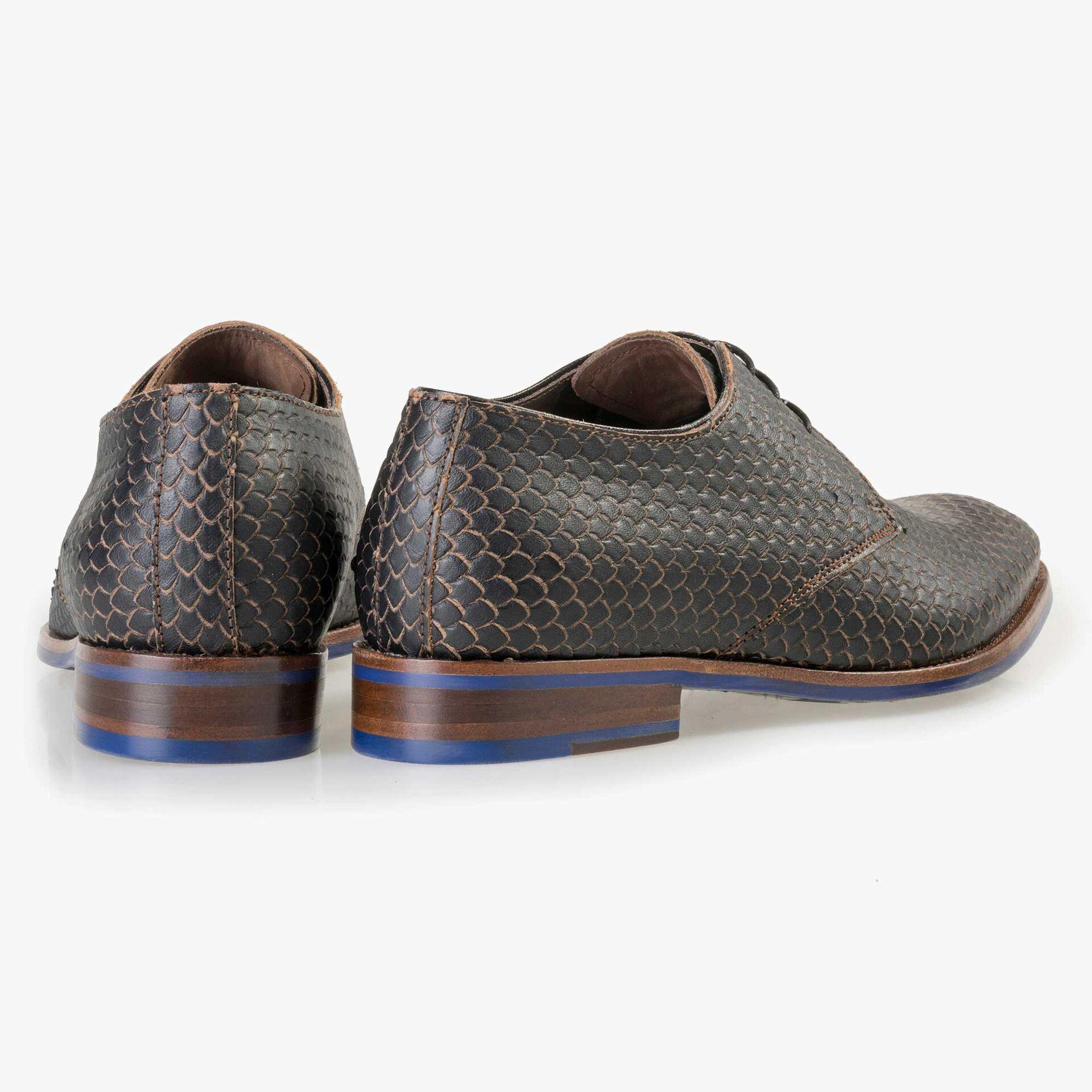 Floris van Bommel Premium brown leather lace shoe