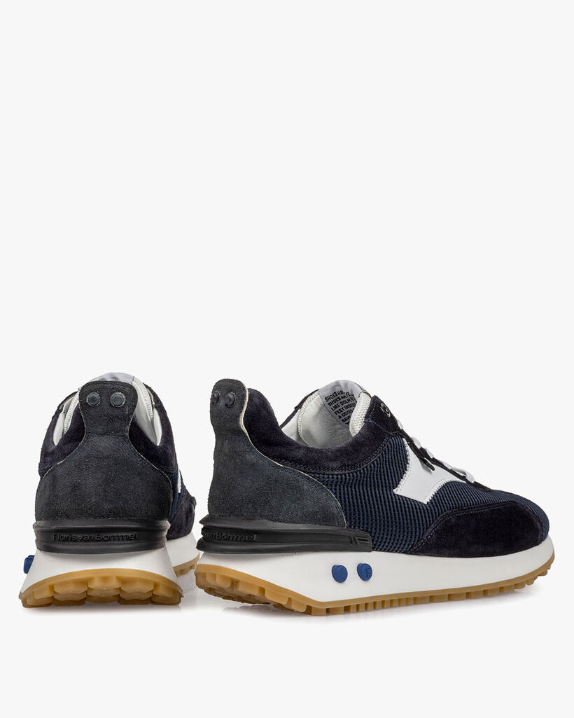 Sneaker textiel donkerblauw