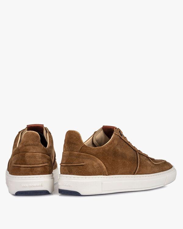 Sneaker cognac suède