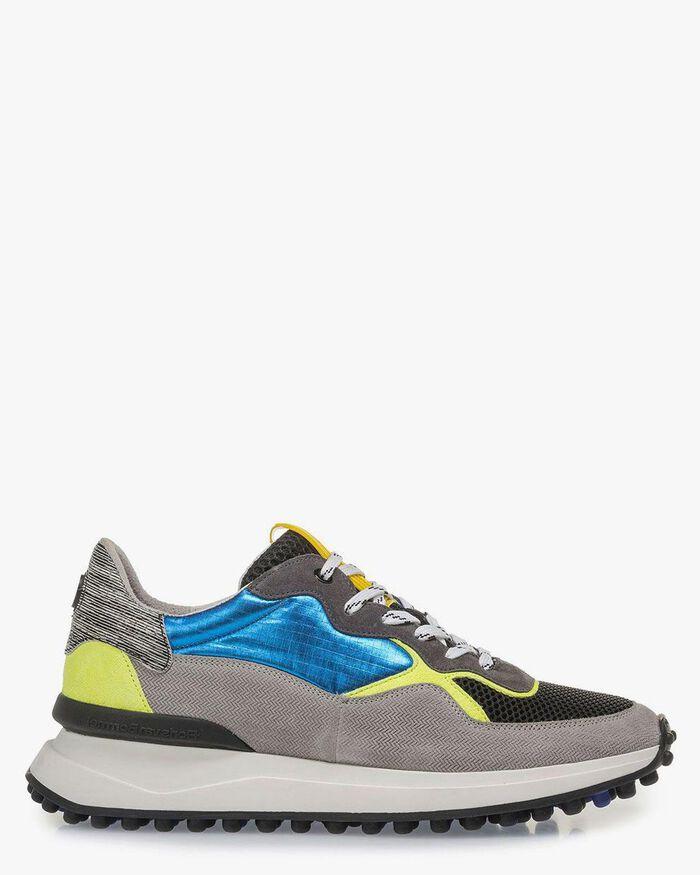 Multi-color sneaker geel/blauw