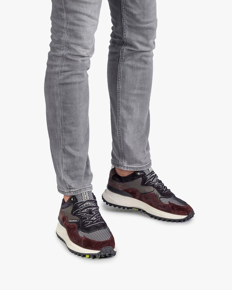 Noppi sneaker bordeauxrood/blauw