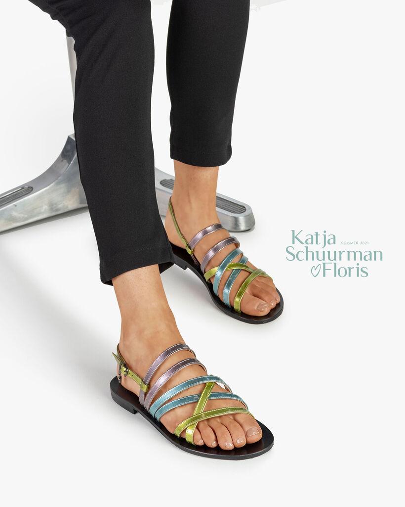 Sandaal lakleer groen