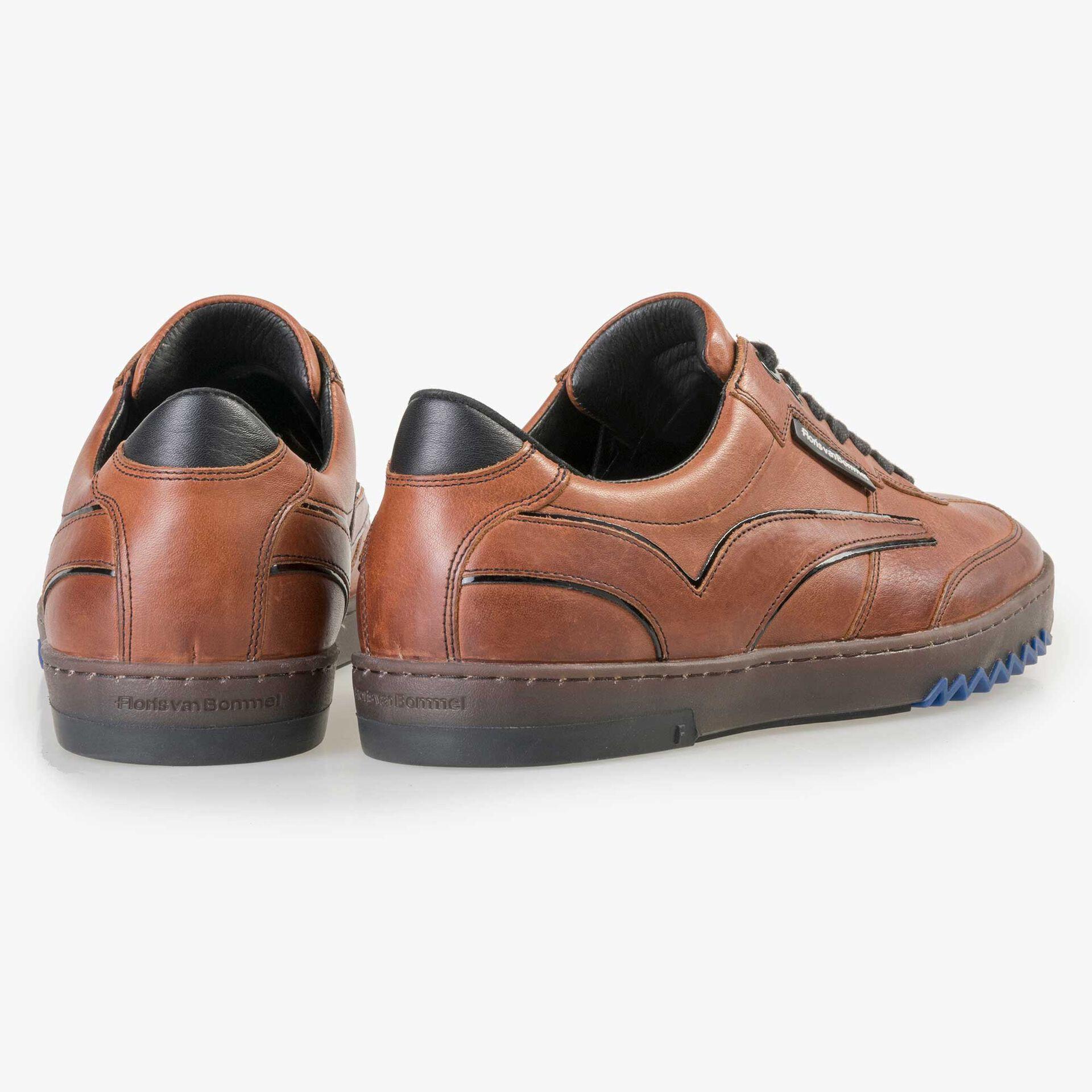 Floris van Bommel men's cognac-coloured leather sneaker