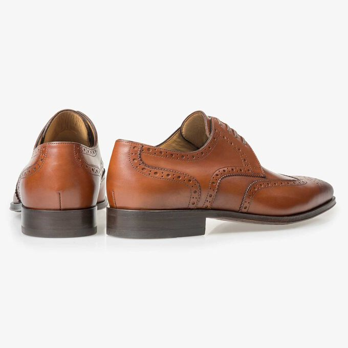 Brogue veterschoen cognac