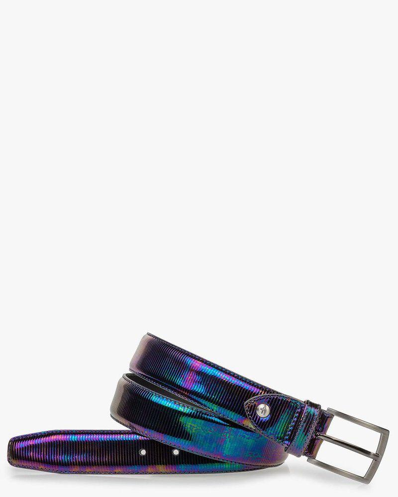 Belt multi-colour patent leather