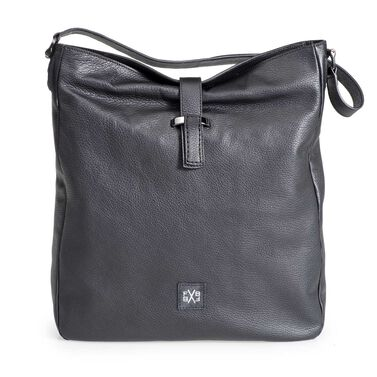 Nubuck leather shoulder bag