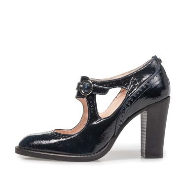 Patent leather pumps