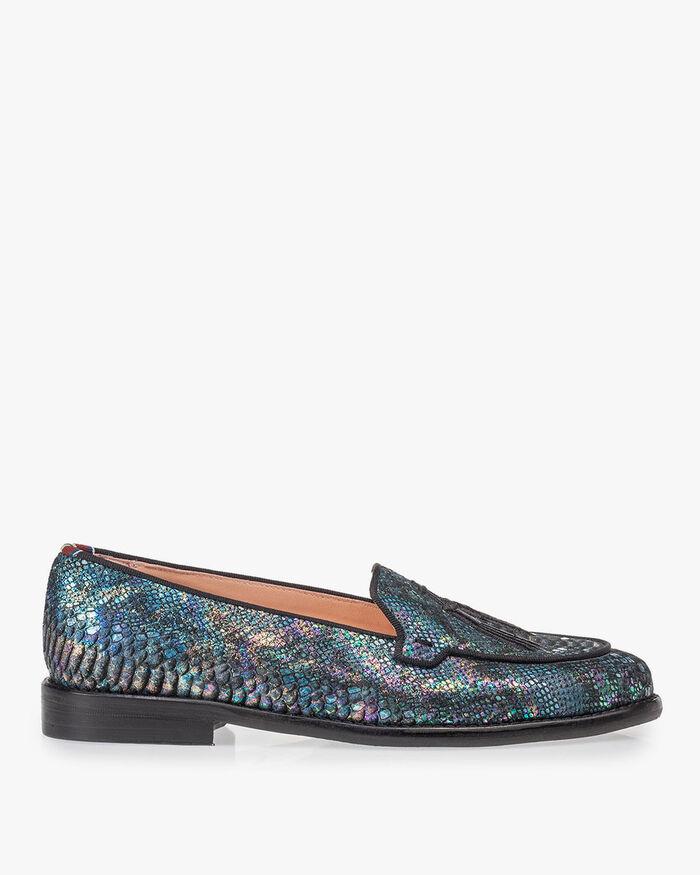 Loafer multi-colour snakeprint
