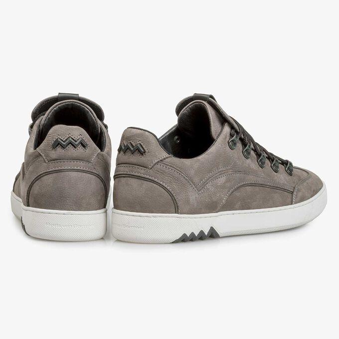 Dark grey nubuck leather lace shoe