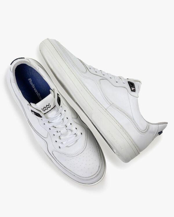 Sneaker wit leer