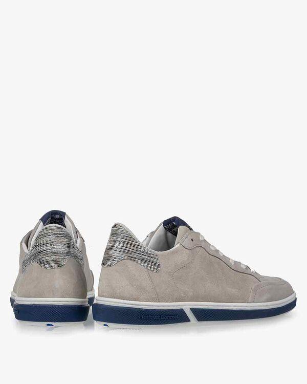Sneaker suède grijs